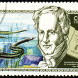 Alexander von Humboldt and sea-eel on post stamp - Stock Photo