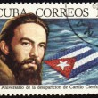 Camilo Cienfuegos on post stamp — Stock Photo