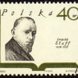 Polish poet Leopold Staff on postage stamp - Stock Photo