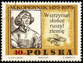 Mikołaja kopernika, wielki polski astronom na znaczku postu — Zdjęcie stockowe