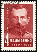 Pavel Dybenko on post stamp — Stock Photo