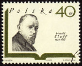 Polish poet Leopold Staff on postage stamp — Stock Photo