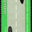Rules of the road on post stamp - Stock Photo