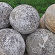 Pile of stone cannon balls — Stock Photo #5869078