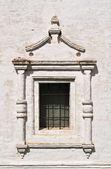 Vintage window in ancient monastery — Stock Photo