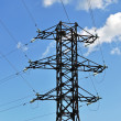 Stock Photo: Mast of high voltage power line