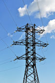Mast of high voltage power line — Stock Photo