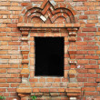 Vintage window in ancient monastery — Stock Photo #5988075