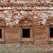 Stock Photo: Vintage windows in ancient monastery