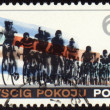 Post stamp shows group of cyclists — Stock Photo #6162644