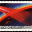 Cosmonauts Day on post stamp — Stock Photo #6504853