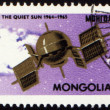 Stock Photo: Weather satellite on post stamp