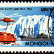 The study of the Antarctic on post stamp — Stock Photo