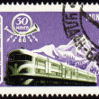 Royalty-Free Stock Photo: Train on post stamp