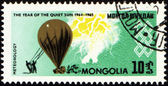 Meteorological balloon on post stamp — Stock Photo