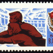 Young workers on postage stamp — Stock Photo #6543735