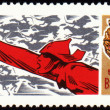 Red Army Mwith sword on postage stamp — Stock Photo #6543778