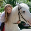 Fashion horsewoman - Stock Photo