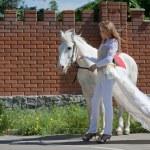 Две белые Ангелы — Стоковое фото