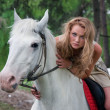 Charming horsewoman — Stock Photo #5436205