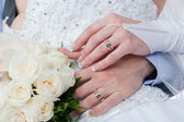 Interlacement of hands - to love interlacement — Stock Photo