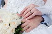 Interlacement ręce - miłość interlacement — Zdjęcie stockowe