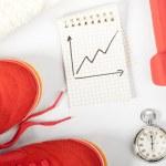Fitness progress — Stock Photo