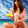 Woman on beach — Stock Photo