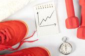 Fitness vooruitgang — Stockfoto