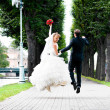 Wedding jump - Stockfoto