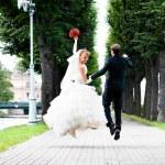 Wedding jump — Stock Photo #5473041