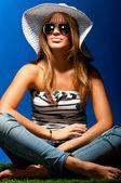 Modna kobieta — Zdjęcie stockowe