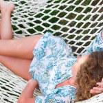 Woman in hammock — Stock Photo #5596733