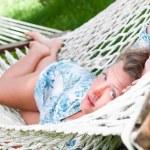 Sexy woman in hammock — Stock Photo #5596760