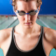 Woman swimmer — Stock Photo