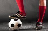 Piernas de jugador de fútbol — Foto de Stock