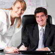 Stock Photo: Two business persons