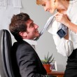 Flirting at office - Stock Photo