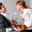Flirting at office - Stok fotoğraf