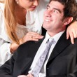 Flirting at office — Stock Photo