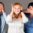 Stock Photo: Deaf dumb blind