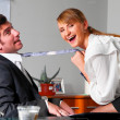 Seducing a boss — Stock Photo