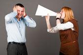 Mujer de negocios está gritando — Foto de Stock