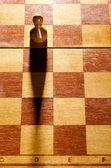 Peão de madeira — Foto Stock