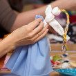 Making doll Vesnyanka — Stock Photo