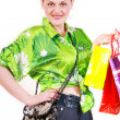 Woman with purchases — Stock Photo