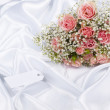 Stock Photo: Beautiful bouquet and card for your text