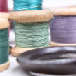 Spools with varicoloured threads — Stock Photo #5940327