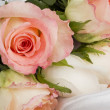 White silk with a lace and rose — Stock Photo #5973863