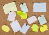 Collection of various note papers — Foto de Stock